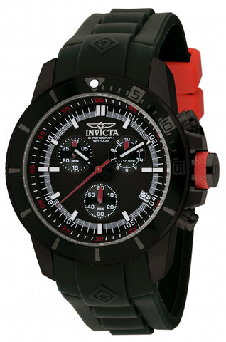 Invicta Men's 11747 Pro Diver Quartz Chronograph Black Dial Watch