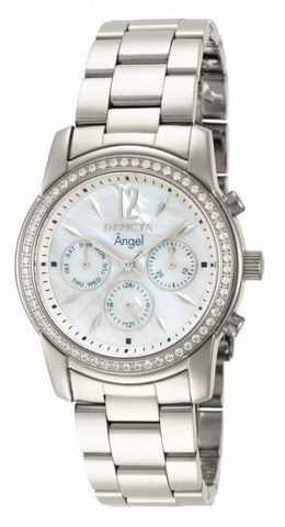 Invicta Women's 11768 Angel Quartz Chronograph White Dial Watch