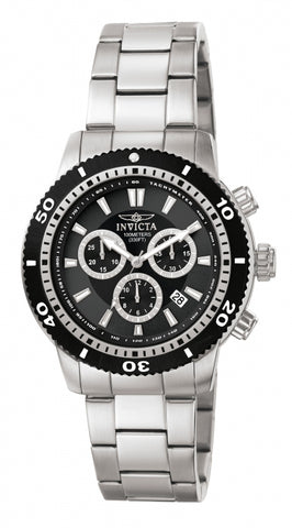 Invicta Men's 1203 Specialty Quartz Chronograph Black Dial Watch