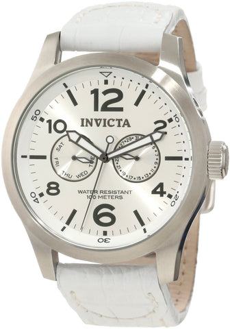 Invicta Men's 12170 Specialty Quartz 3 Hand Silver Dial Watch
