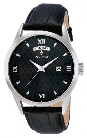 Invicta Men's 12243 Vintage Quartz 3 Hand Charcoal Dial Watch