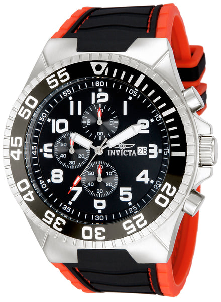 Invicta Men's 12412 Pro Diver Quartz 3 Hand Black Dial Watch