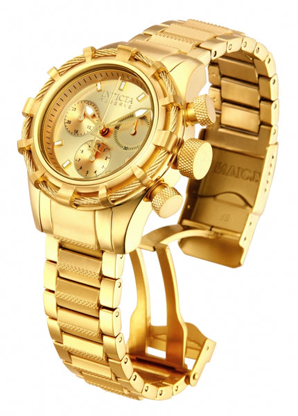 Invicta Women's 12461 Bolt Quartz Chronograph Gold Dial Watch