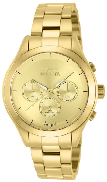 Invicta Women's 12466 Angel Quartz Chronograph Gold Dial Watch