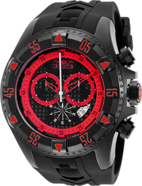 Invicta Men's 12690 Excursion Quartz Chronograph Black Dial Watch
