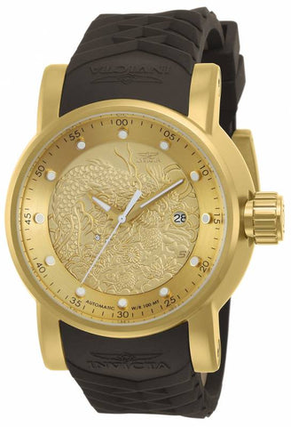 Invicta Men's 12790 S1 Rally Automatic 3 Hand Gold Dial Watch