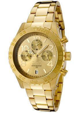 Invicta Women's 1279 Specialty Quartz Chronograph Gold Dial Watch