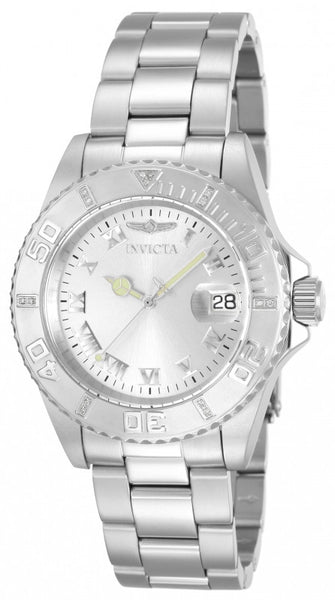 Invicta Men's 12819 Pro Diver Quartz 3 Hand Silver Dial Watch