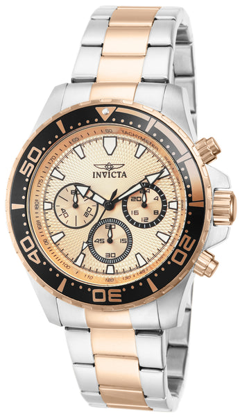 Invicta Men's 12917 Pro Diver Quartz Chronograph Rose Gold Dial Watch