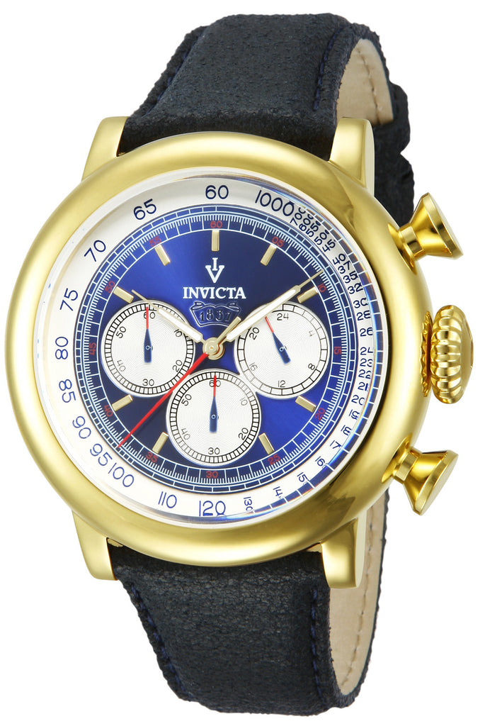 Invicta Men's 13057 Vintage Quartz 3 Hand Blue Dial Watch