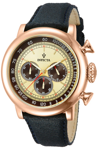 Invicta Men's 13060 Vintage Quartz 3 Hand Ivory Dial Watch