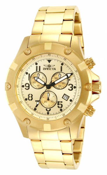 Invicta Men's 13619 Specialty Quartz Chronograph Gold Dial Watch