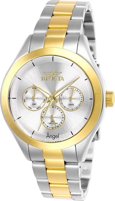 Invicta Women's 13725 Angel Quartz 3 Hand Silver Dial Watch