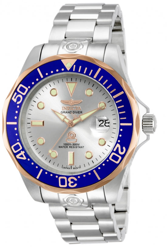 Invicta Men's 13788 Pro Diver Automatic 3 Hand Silver Dial Watch