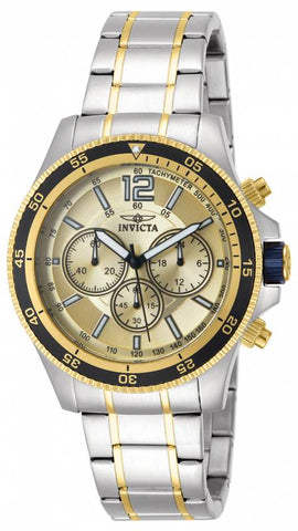Invicta Men's 13976 Specialty Quartz Chronograph Gold Dial Watch