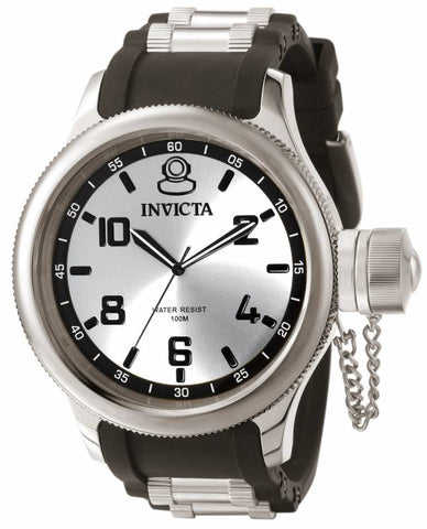 Invicta Men's 1435 Russian Diver Quartz 3 Hand Silver Dial Watch