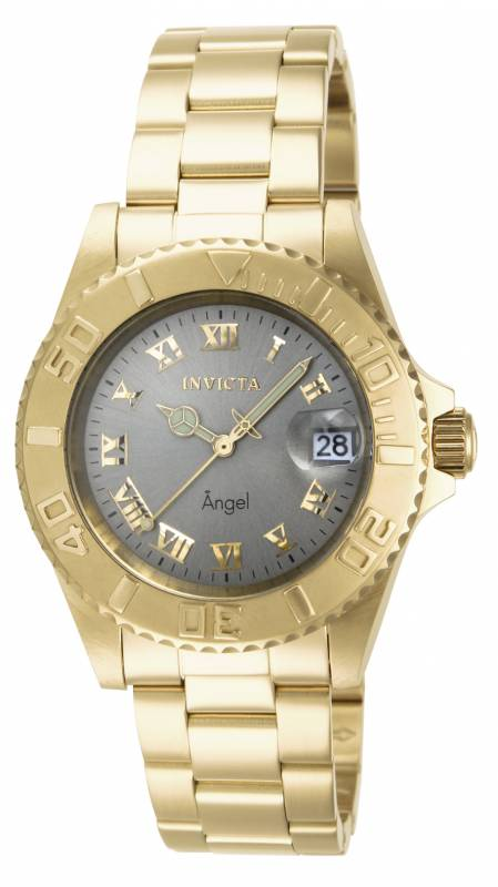 Invicta Women's 14366 Angel Quartz 3 Hand Light Grey Dial Watch