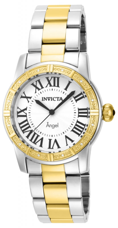 Invicta Women's 14376 Angel Quartz 3 Hand Silver Dial Watch