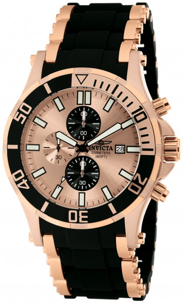 Invicta Men's 1479 Sea Spider Quartz Chronograph Rose Gold Dial Watch