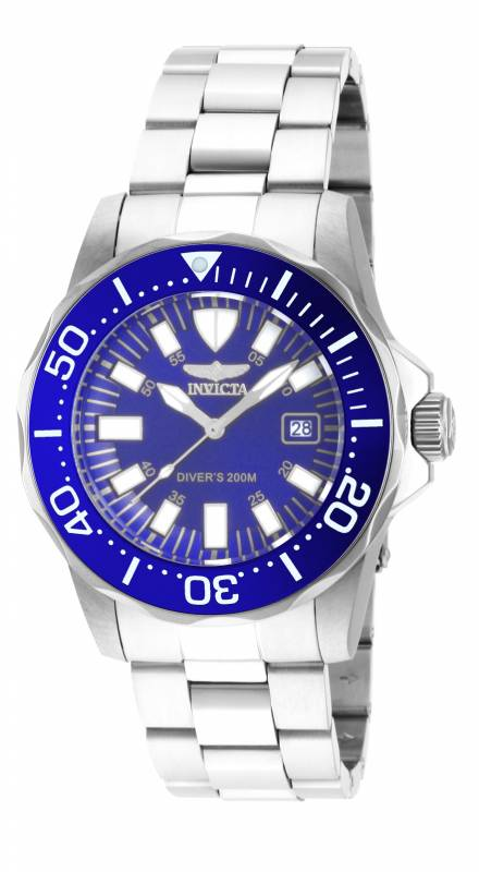 Invicta Men's 15027 Pro Diver Quartz 3 Hand Blue Dial Watch