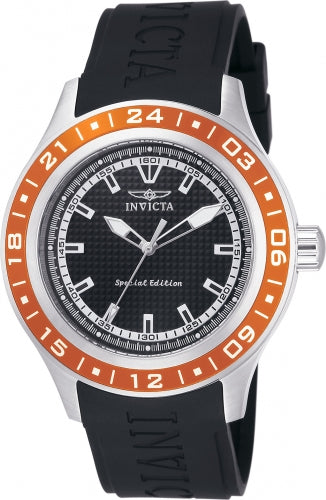 Invicta Men's 15225 Specialty Quartz 3 Hand Black Dial Watch