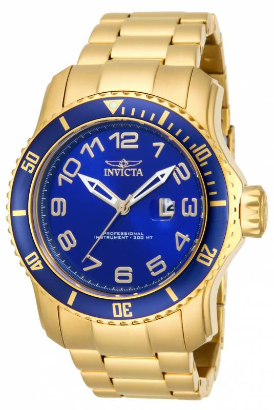 Invicta Men's 15347 Pro Diver Quartz 3 Hand Blue Dial Watch