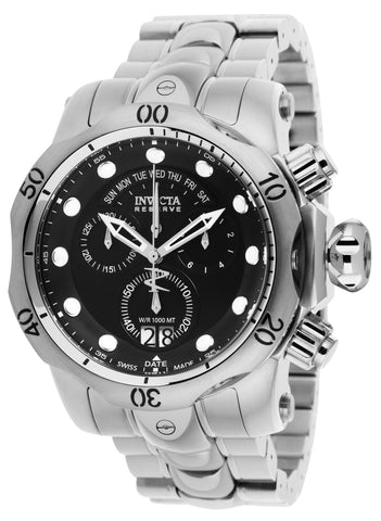 Invicta Men's 1539 Venom Quartz Multifunction Black Dial Watch