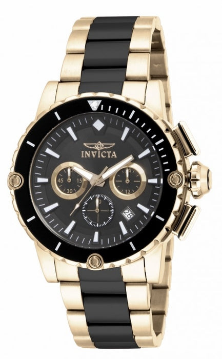 Invicta Men's 15402 Pro Diver Quartz Chronograph Black Dial Watch