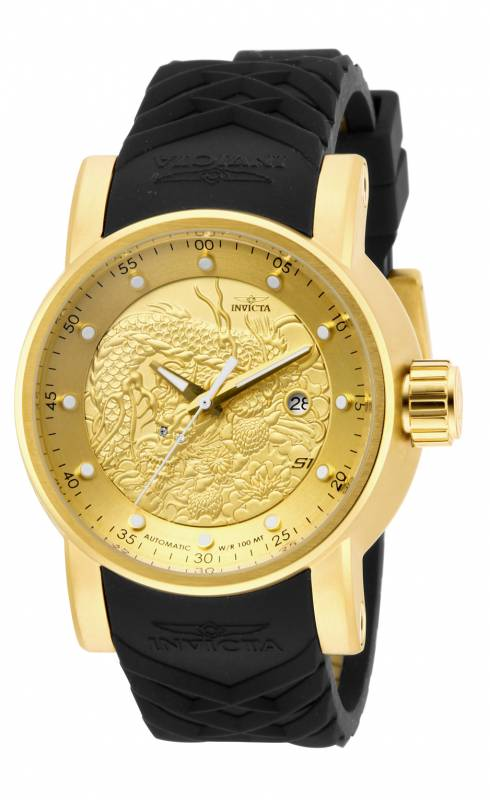 Invicta Men's 15863 S1 Rally Automatic 3 Hand Gold Dial Watch