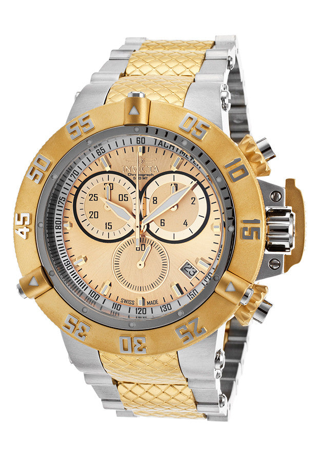 Invicta Men's 15949 Subaqua Quartz Chronograph Gold Dial Watch