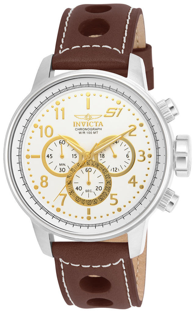 Invicta Men's 16010 S1 Rally Quartz Multifunction Antique Silver Dial Watch