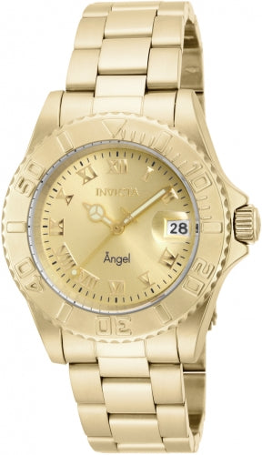 Invicta Women's 16849 Angel Quartz 3 Hand Champagne Dial Watch