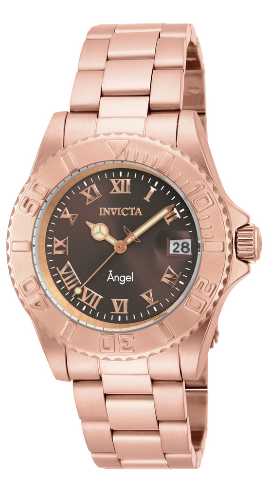 Invicta Women's 16852 Angel Quartz 3 Hand Brown Dial Watch
