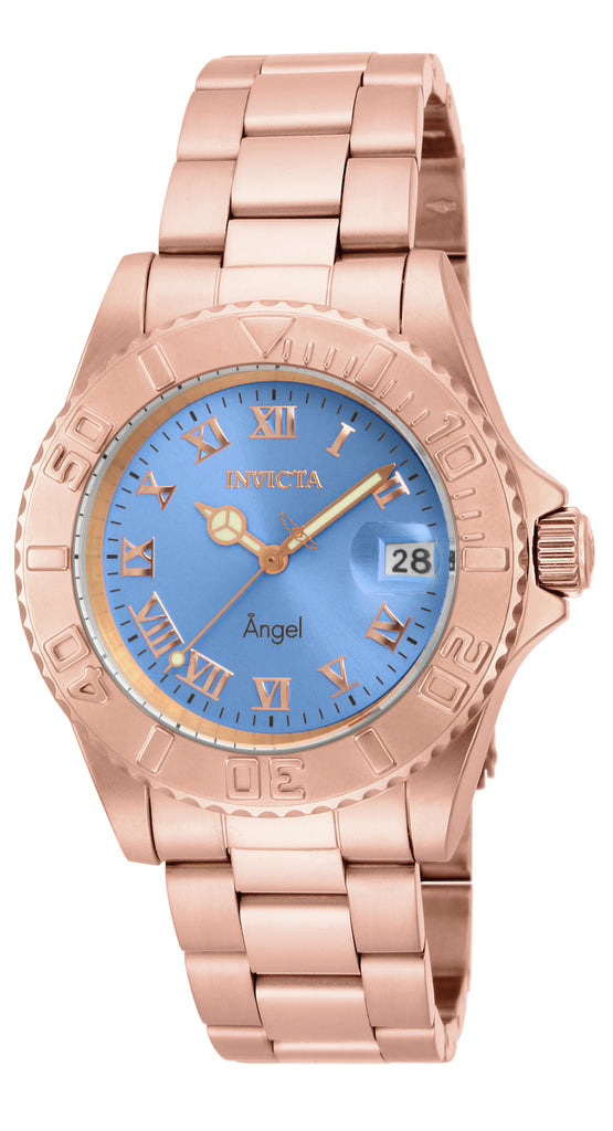 Invicta Women's 16853 Angel Quartz 3 Hand Light Blue Dial Watch
