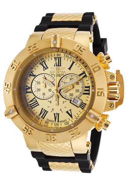 Invicta Men's 16875 Subaqua Quartz Chronograph Gold Dial Watch