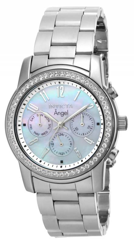 Invicta Women's 17019 Angel Quartz Multifunction White Dial Watch
