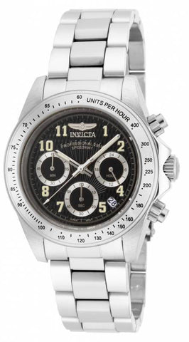 Invicta Men's 17025 Speedway Quartz Chronograph Black Dial Watch
