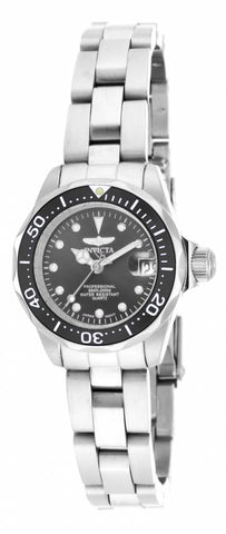 Invicta Women's 17032 Pro Diver Quartz 3 Hand Black Dial Watch