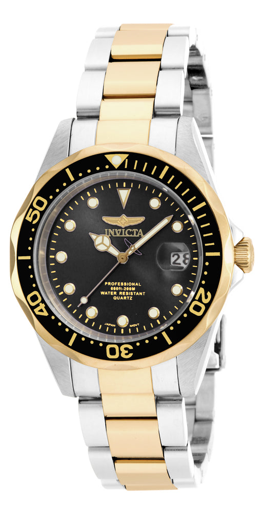 Invicta  Men's 17049 Pro Diver Quartz 3 Hand Black Dial Watch
