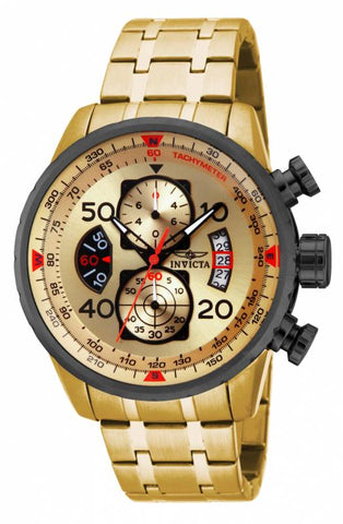 Invicta Men's 17205 Aviator Quartz Chronograph Gold Dial Watch