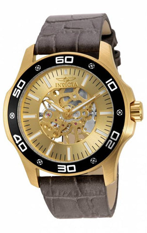 Invicta Men's 17262 Specialty Mechanical 3 Hand Gold Dial Watch
