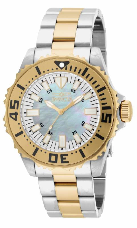 Invicta Men's 17694 Pro Diver Quartz 3 Hand Platinum Dial Watch