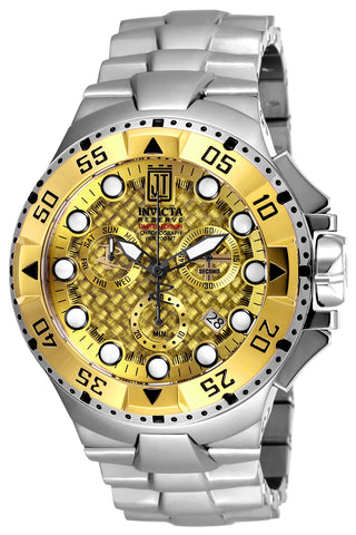 Invicta Men's 17843 JT Quartz Chronograph Gold Dial Watch