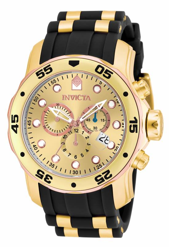 Invicta Men's 17884 Pro Diver Quartz Multifunction Gold Dial Watch