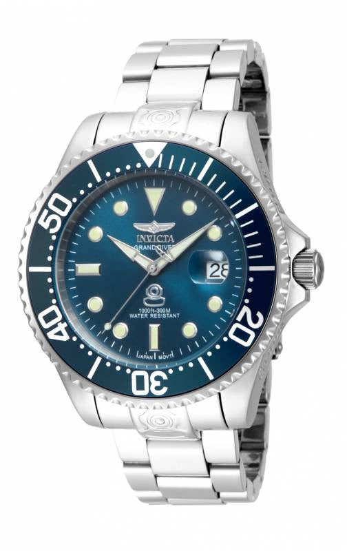 Invicta Men's 18160 Pro Diver Automatic 3 Hand Blue Dial Watch