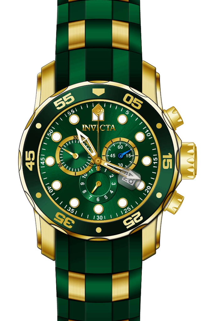 Invicta Men's 18196 Pro Diver Quartz Chronograph Green Dial Watch