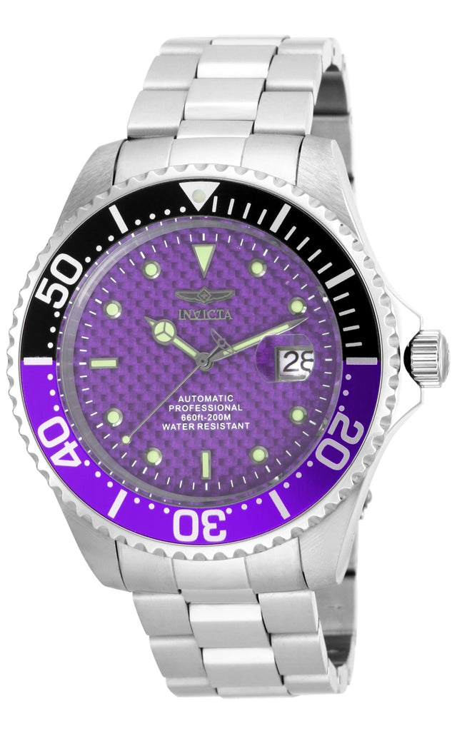 Invicta Men's 18261 Pro Diver Automatic 3 Hand Purple Dial Watch