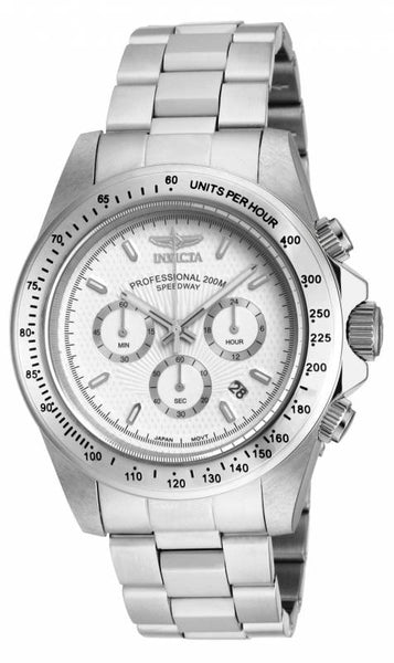 Invicta Men's 18389 Speedway Quartz Chronograph White Dial Watch