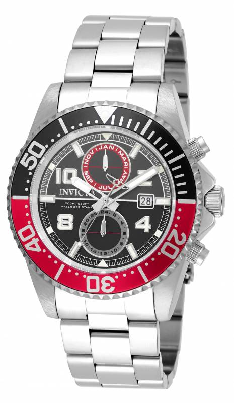Invicta Men's 18516 Pro Diver Quartz 3 Hand Gunmetal, Black Dial Watch