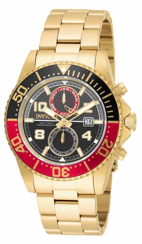 Invicta Men's 18518 Pro Diver Quartz 3 Hand Gunmetal, Black Dial Watch